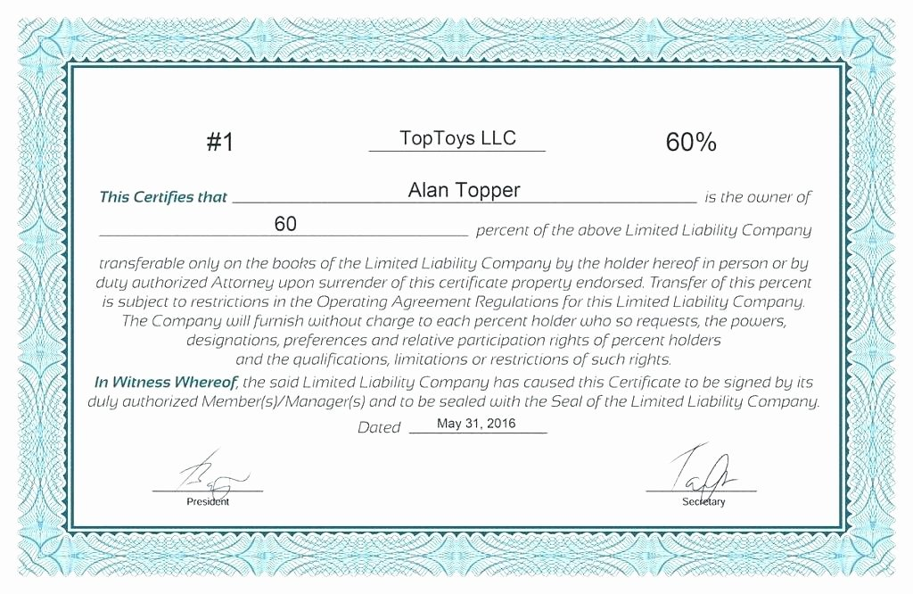 Corporate Stock Certificate Template Beautiful Corporate Stock Certificate Template