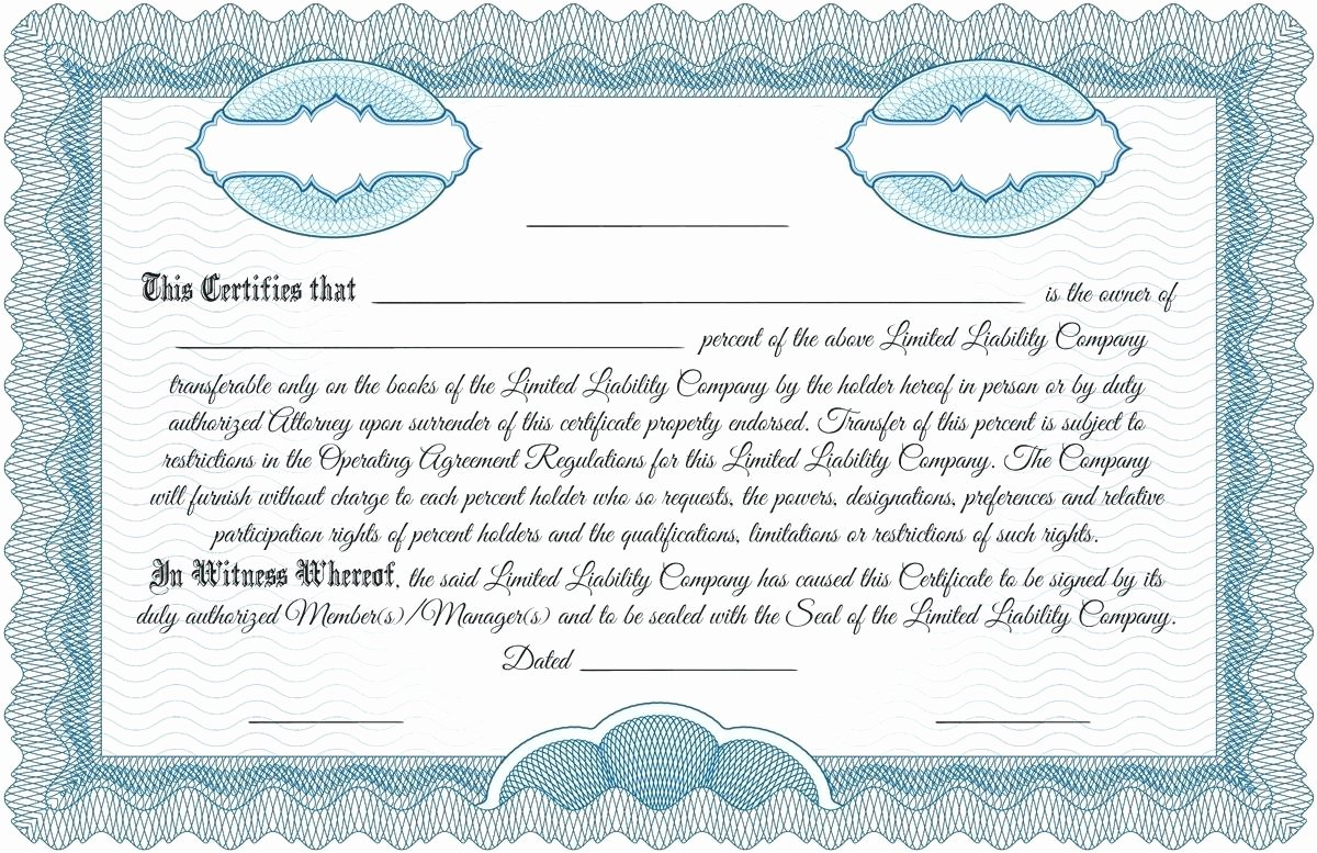 Corporate Stock Certificate Template Beautiful Template Corporation Stock Certificate Template