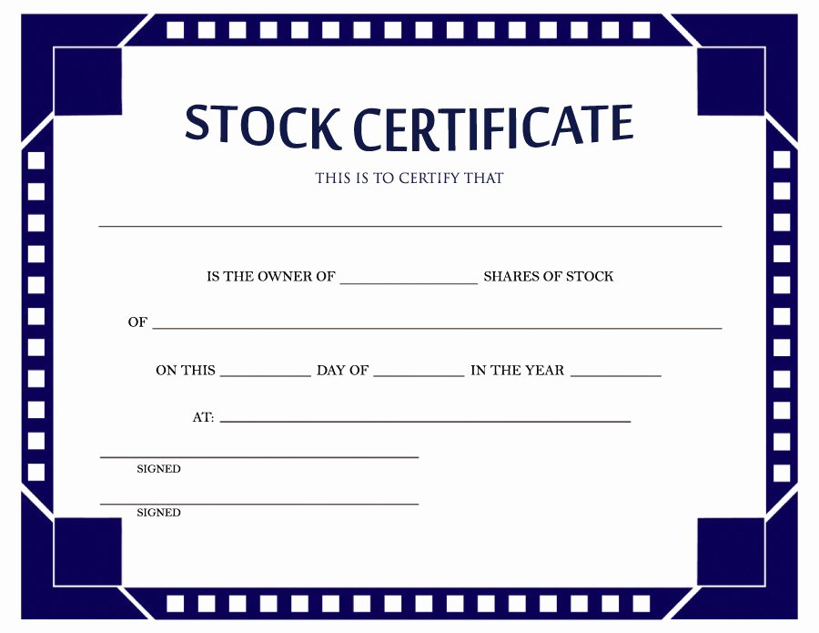 Corporate Stock Certificate Template Best Of 41 Free Stock Certificate Templates Word Pdf Free