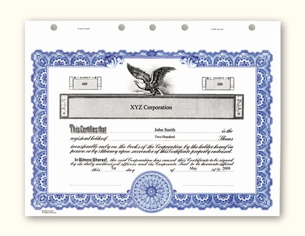Corporate Stock Certificate Template Elegant Corporate Stock Certificates