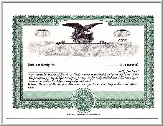 Corporate Stock Certificate Template Fresh 9 Best Of Free Blank Stock Certificate form Blank