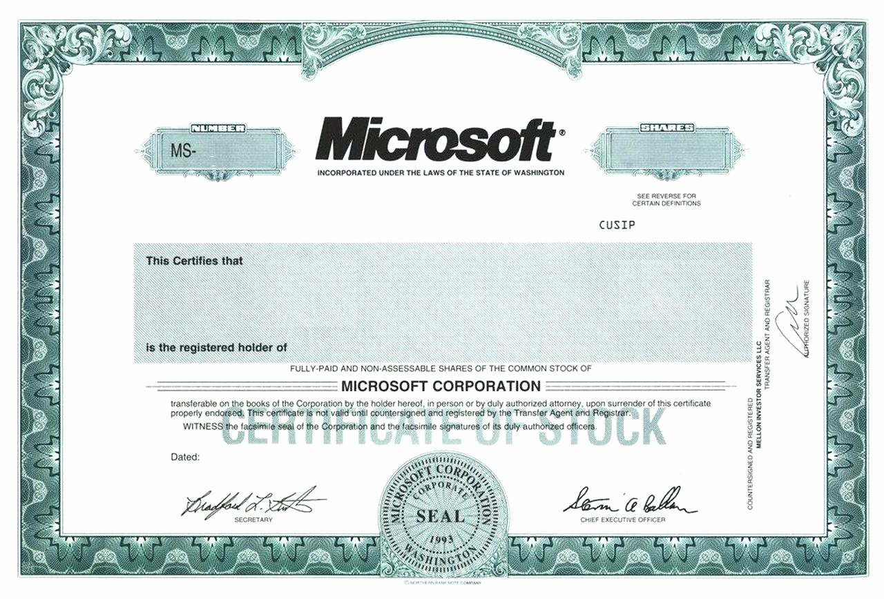 Corporate Stock Certificate Template Fresh Template Corporation Stock Certificate Template