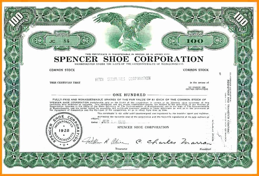 Corporate Stock Certificate Template Inspirational Corporation Stock Certificate Printable Corporate