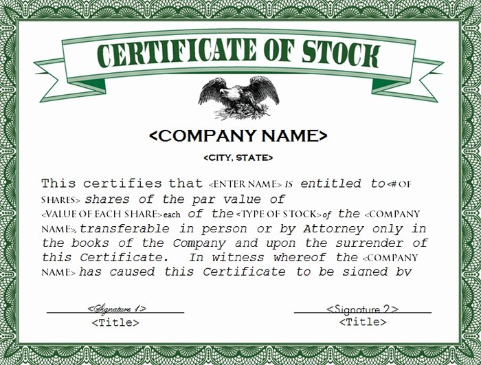 Corporate Stock Certificate Template New 22 Stock Certificate Templates Word Psd Ai Publisher