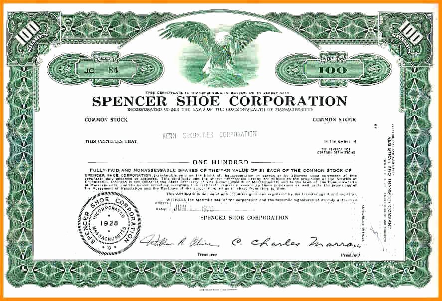 Corporate Stock Certificate Template New Discreetliasons