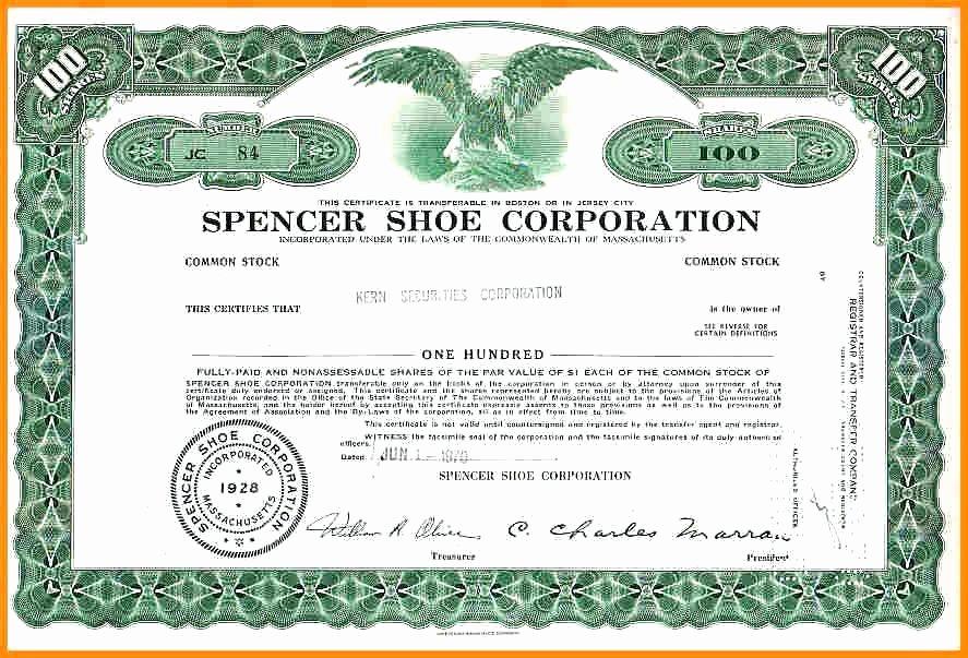 Corporate Stock Certificate Template New Discreetliasons