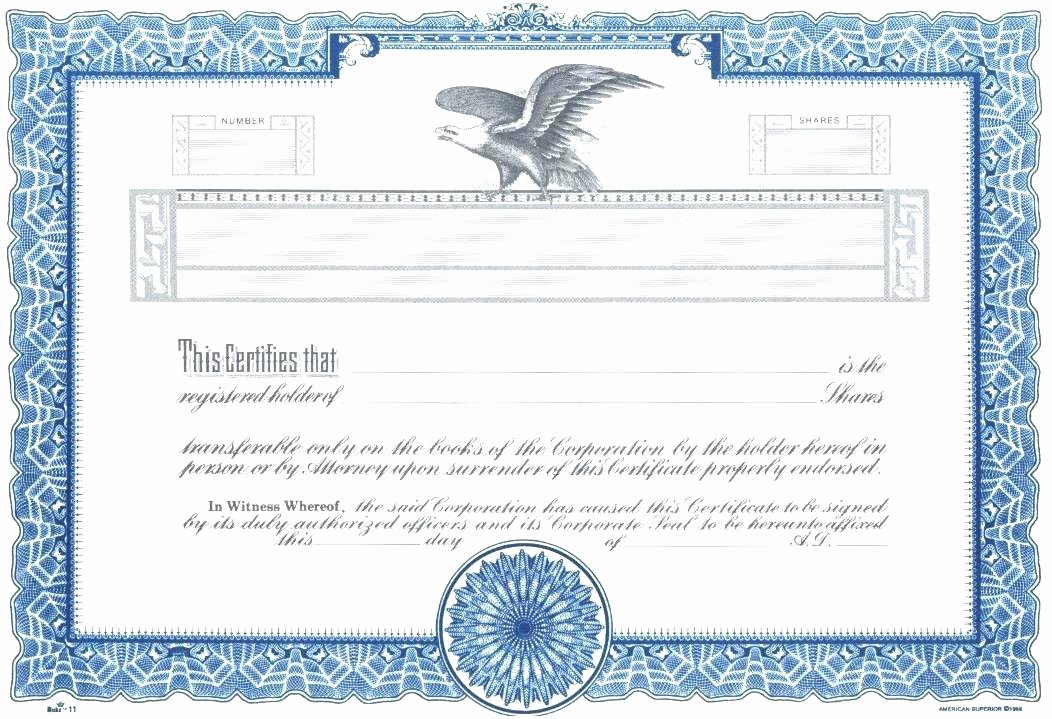 Corporate Stock Certificate Template Unique top Result Stock Certificate Template Word Lovely 4 Free