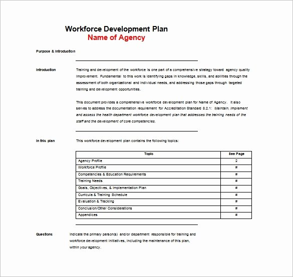 Corporate Training Plan Template Unique 11 Training Plan Templates Word Pdf