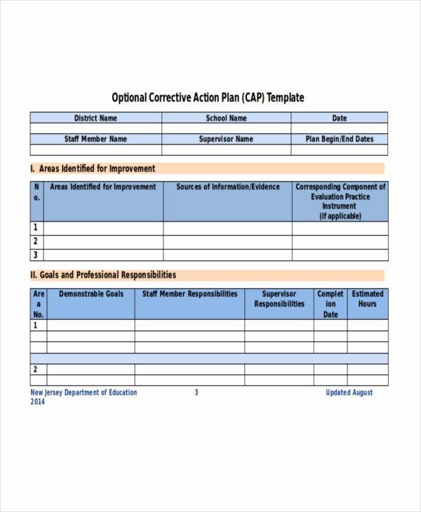 Corrective Action Plan Template Word Elegant Action Plan Template 14 Free Word Pdf Document