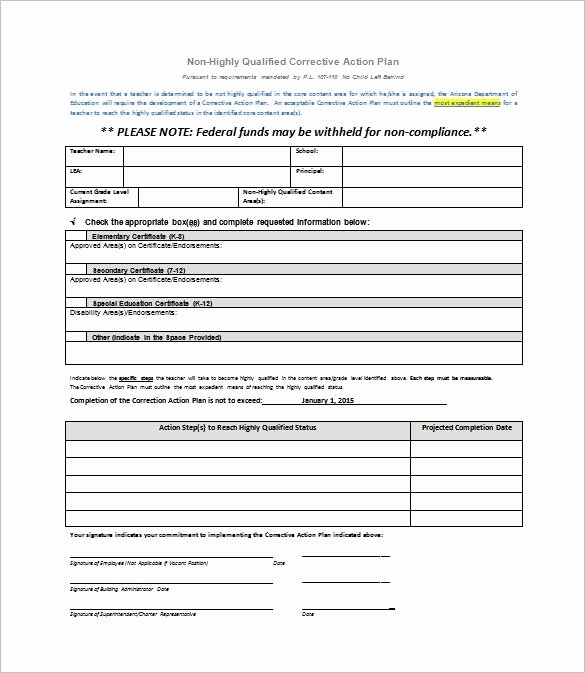 Corrective Action Plan Template Word Lovely Corrective Action Plan Template