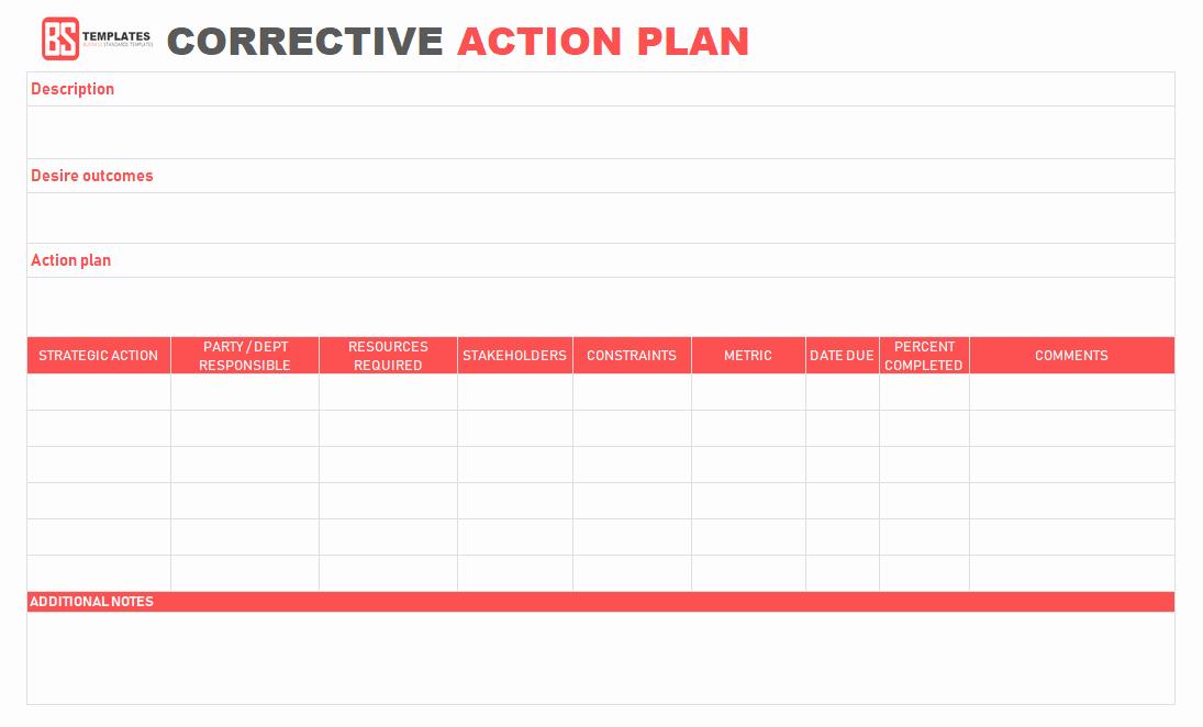 Corrective Action Plan Template Word Luxury Action Plan Templates – Free Templates [word