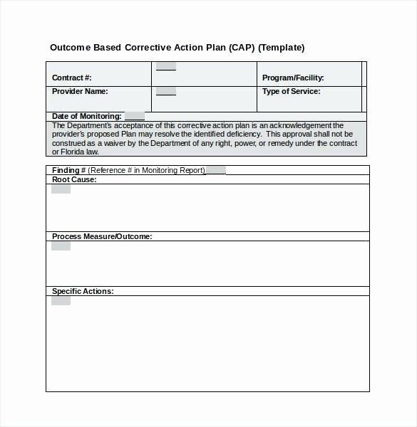 Corrective Action Plan Template Word Luxury Corrective Action Report form Template – Azserverfo