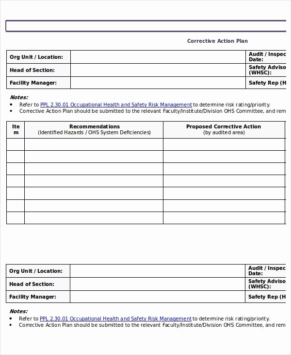 Corrective Action Plan Template Word New Action Plan Templates 9 Free Word Pdf Documents