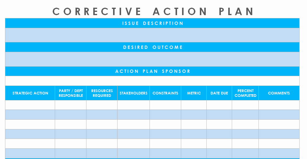 Corrective Action Plan Template Word New Get Corrective Action Plan Template Excel – Microsoft
