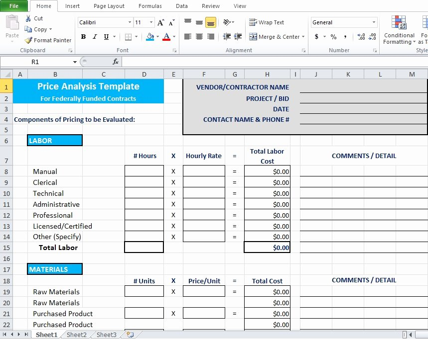 Cost Analysis Template Excel Awesome Price Analysis Spreadsheet Template Excel Tmp