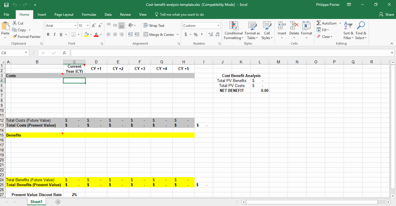 Cost Analysis Template Excel Best Of Cost Benefit Analysis Template for Excel Template Trader