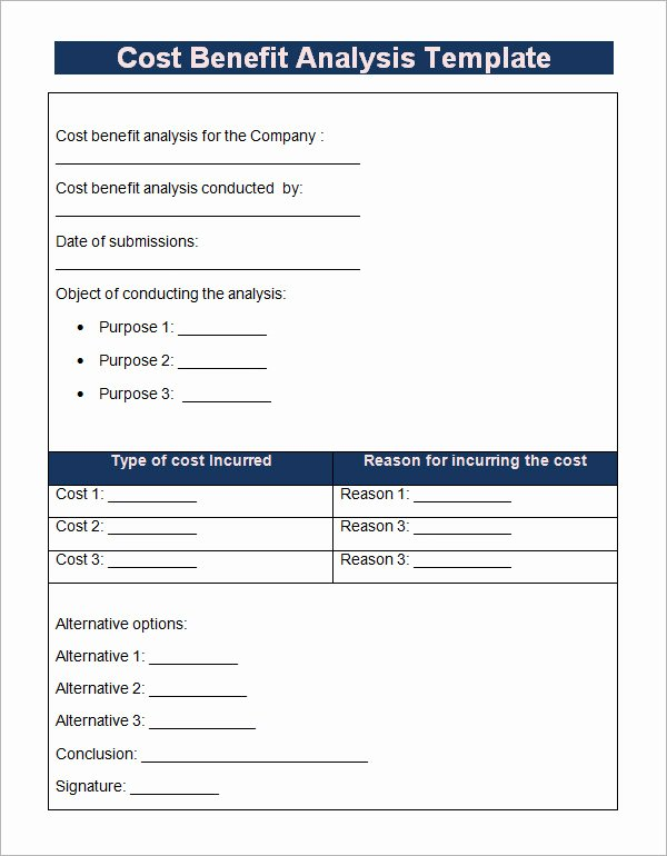 Cost Benefit Analysis Excel Template Beautiful 18 Cost Benefit Analysis Templates