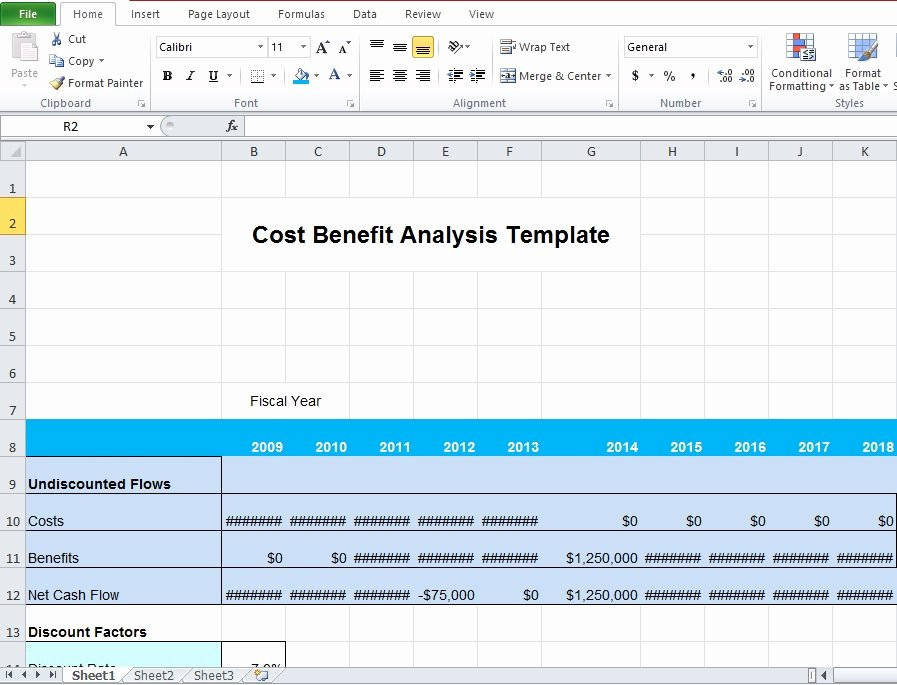 Cost Benefit Analysis Excel Template Fresh Download Business Cost Benefit Analysis Template for
