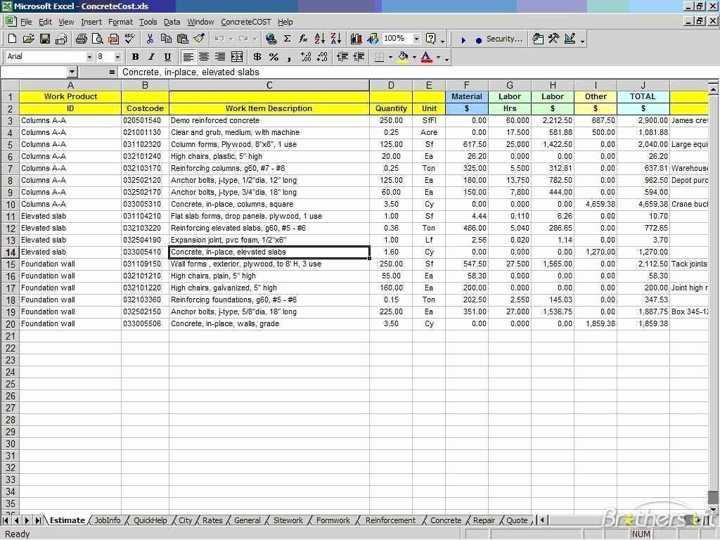 Cost Estimate Template Excel Beautiful Cost Estimate Spreadsheet Excel Cost Estimate Spreadsheet
