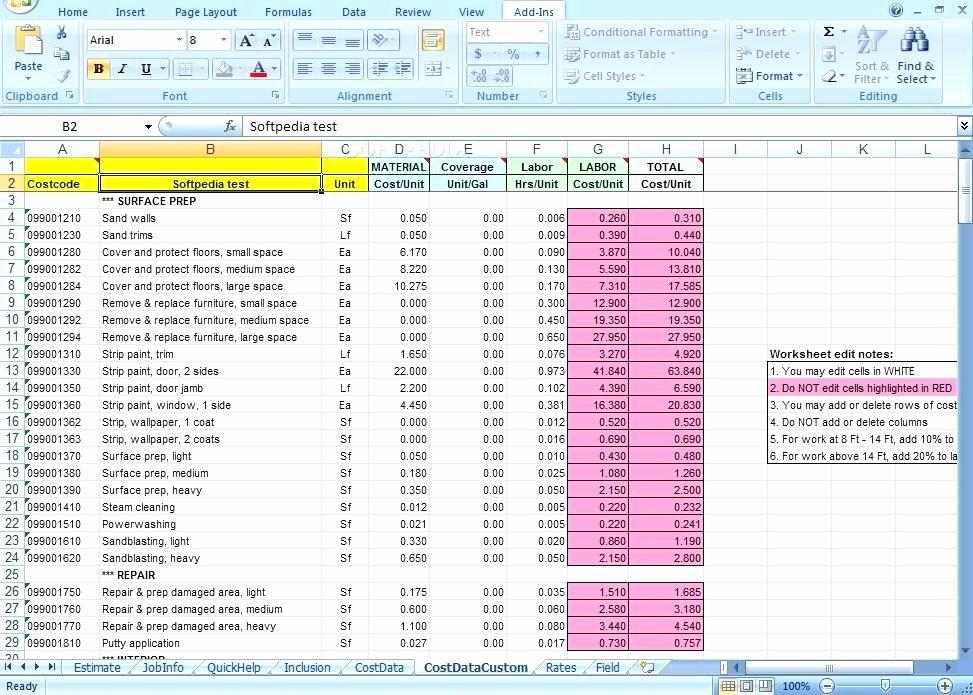 Cost Estimate Template Excel Beautiful Excel Construction Bid Template Home Cost Estimate Sheet