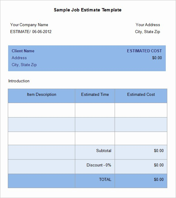 Cost Estimate Template Excel Unique Quote Sheet Template Word Templates Data