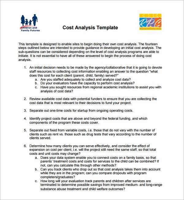Cost Saving Analysis Template Inspirational 17 Cost Analysis Samples