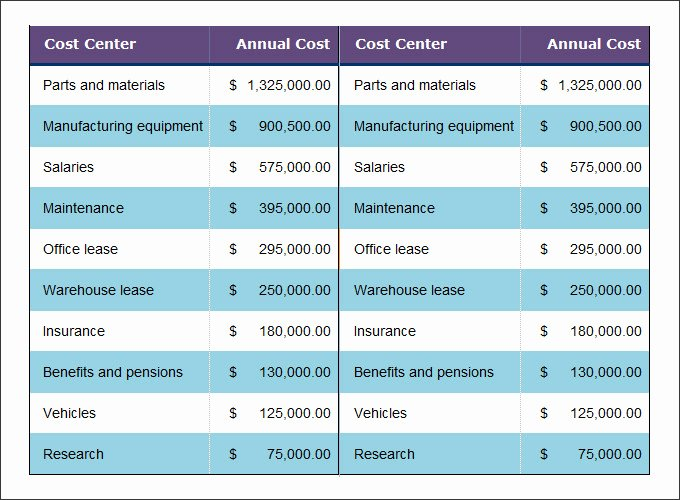 Cost Saving Analysis Template Luxury Cost Benefit Analysis Template