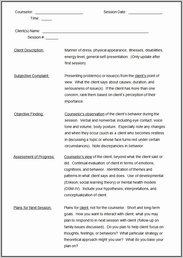 Counseling Case Note Template Beautiful Case Notes Example Counselling Template Resume