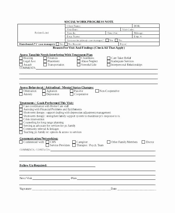 Counseling Case Note Template Unique Counseling Case Notes Template