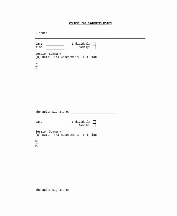 Counseling Case Notes Template New top Result Inspirational Psychology Progress Note Template