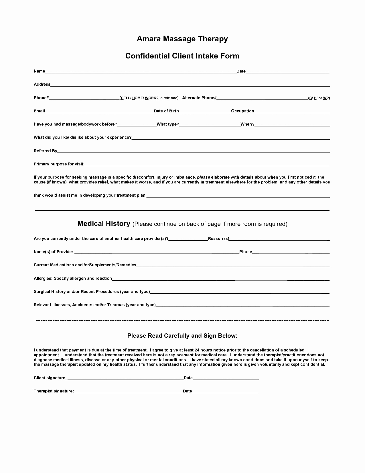 Counseling Intake form Template Unique Body Intake form Clipart Clipart Suggest