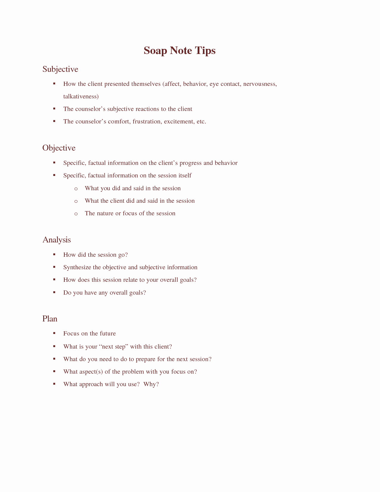 Counseling Session Notes Template Inspirational 7 Best Of Printable Counseling soap Note Templates