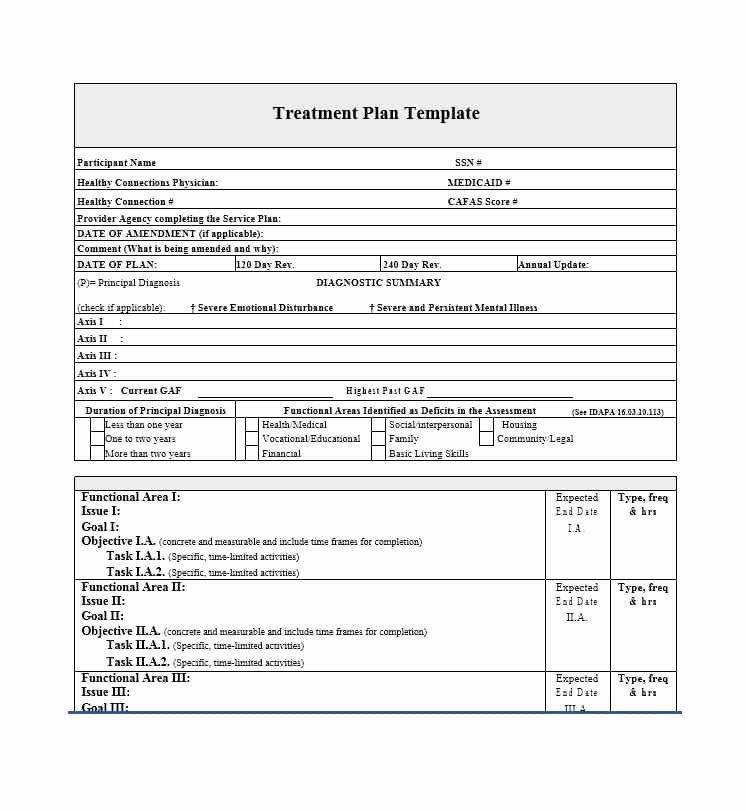 Counseling Treatment Plan Template Elegant 35 Treatment Plan Templates Mental Dental Chiropractic
