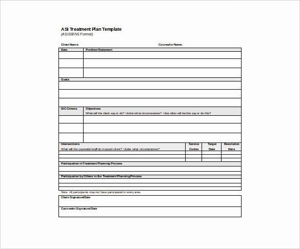 Counseling Treatment Plan Template Inspirational 14 Treatment Plan Templates Sample Word Google Docs