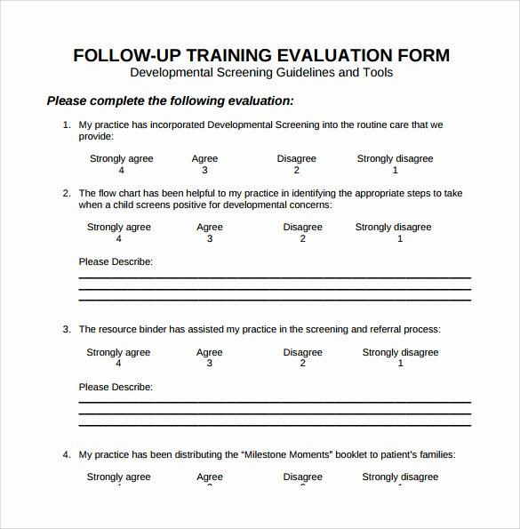 Course Evaluation form Template Lovely 15 Sample Training Evaluation forms – Pdf