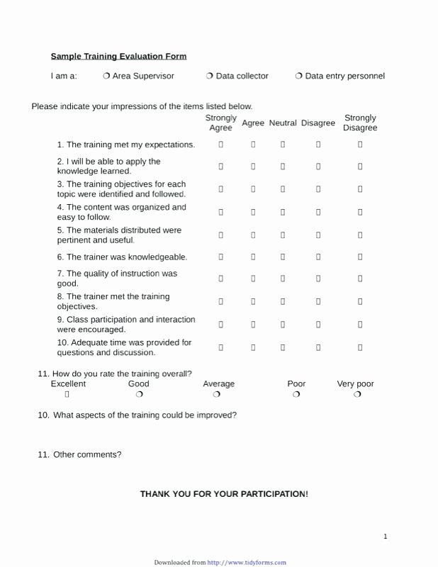 Course Evaluation form Template New Course Evaluation Template Word Training form Good
