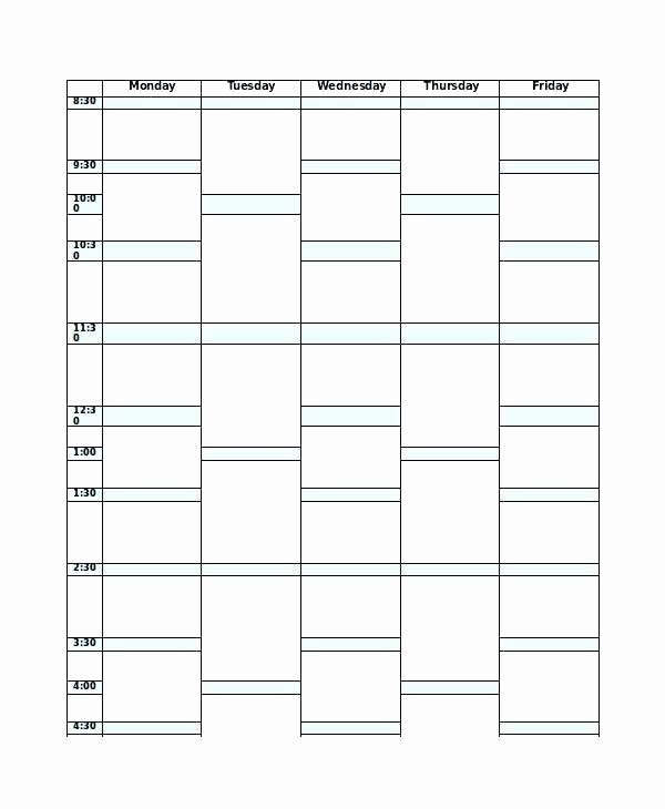 Course Schedule Planner Template Lovely Weekly Class Schedule Template Editable Lesson Plan Blank