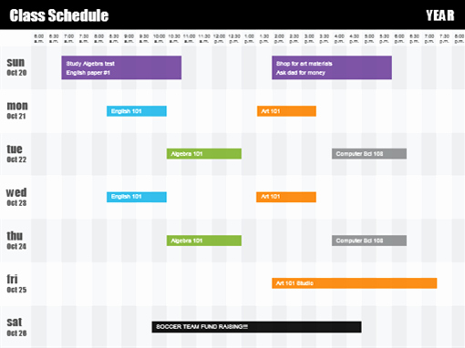 Course Schedule Planner Template New Class Schedule by Time