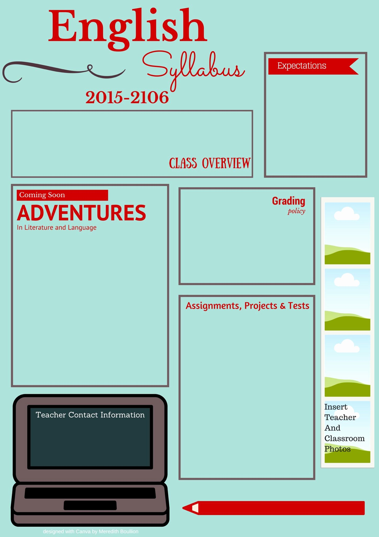 Course Syllabus Template for Teachers Best Of Visual Syllabus Template Made with Canva