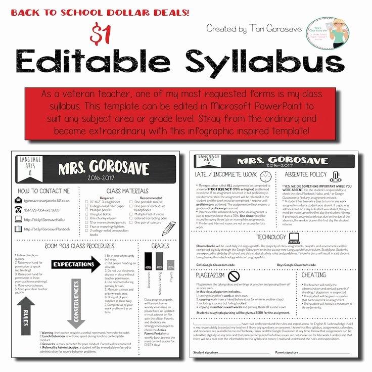 Course Syllabus Template for Teachers New 25 Best Ideas About Class Syllabus On Pinterest