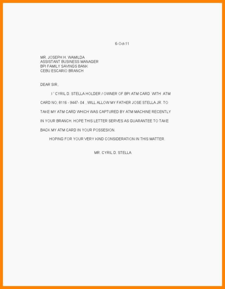 Credit Card Authorization Letter Template Awesome Authorization Letter to Use Credit Cardedit Card