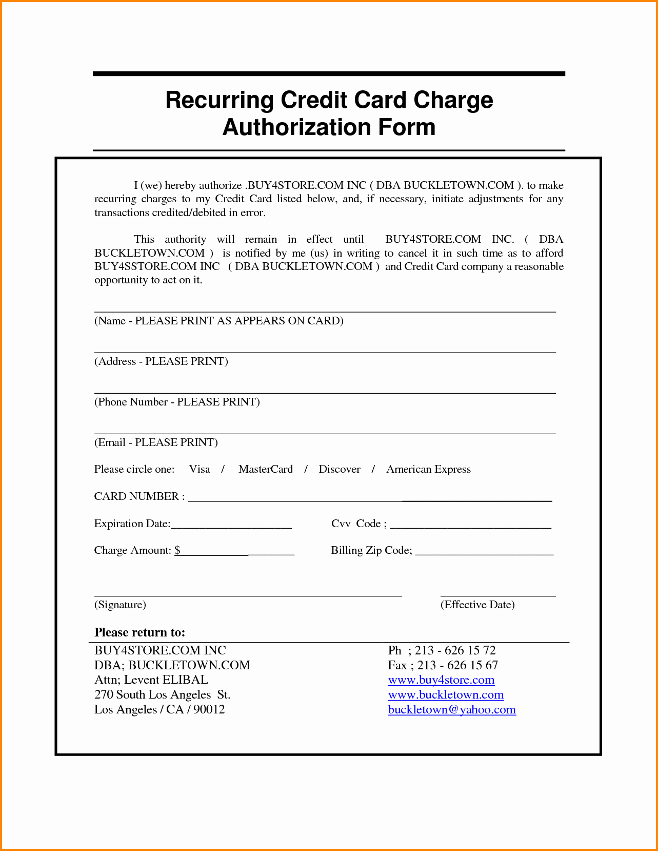 Credit Card Authorization Letter Template Beautiful Authorization Letter for Credit Card Payment