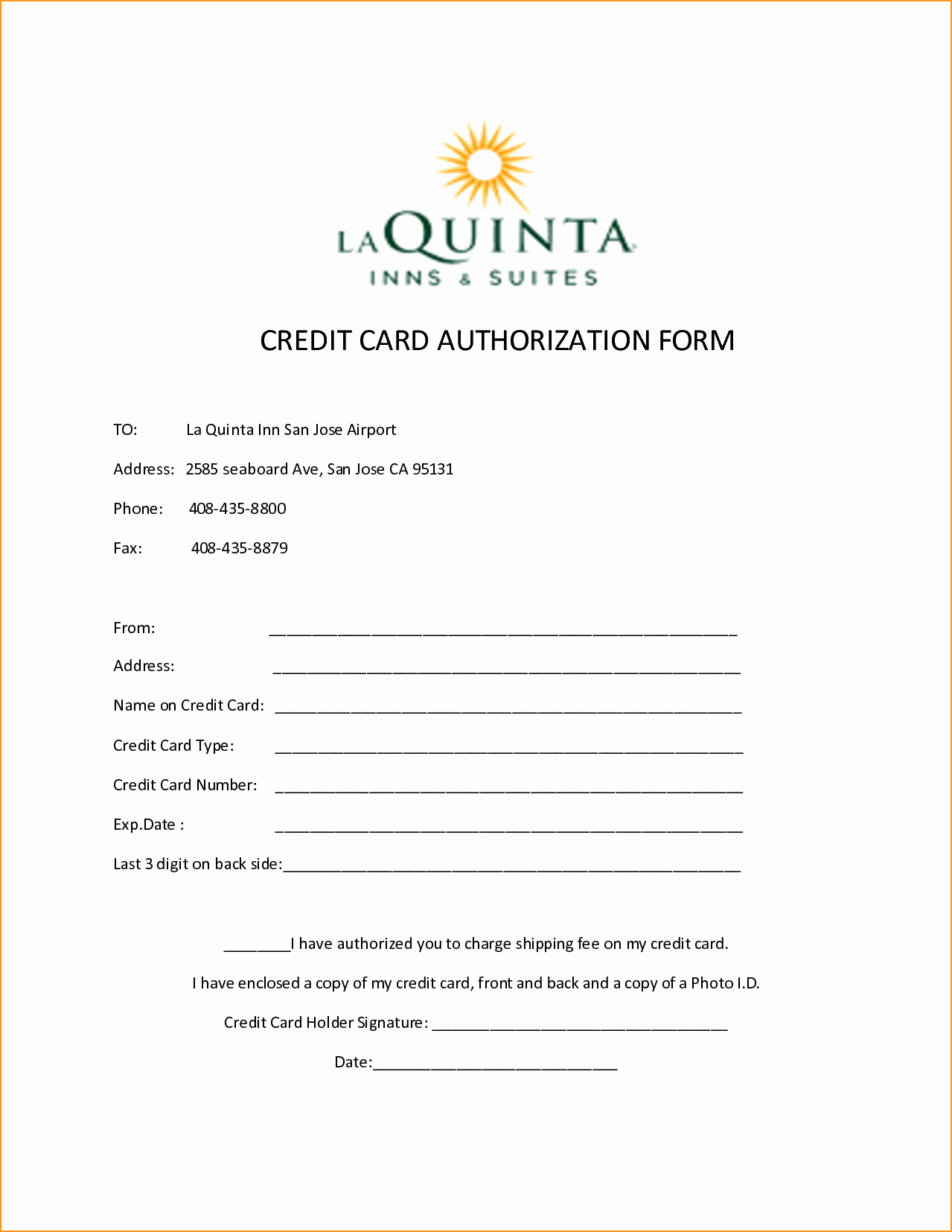 Credit Card Authorization Letter Template Elegant 10 Credit Card Authorization form Template Free Download