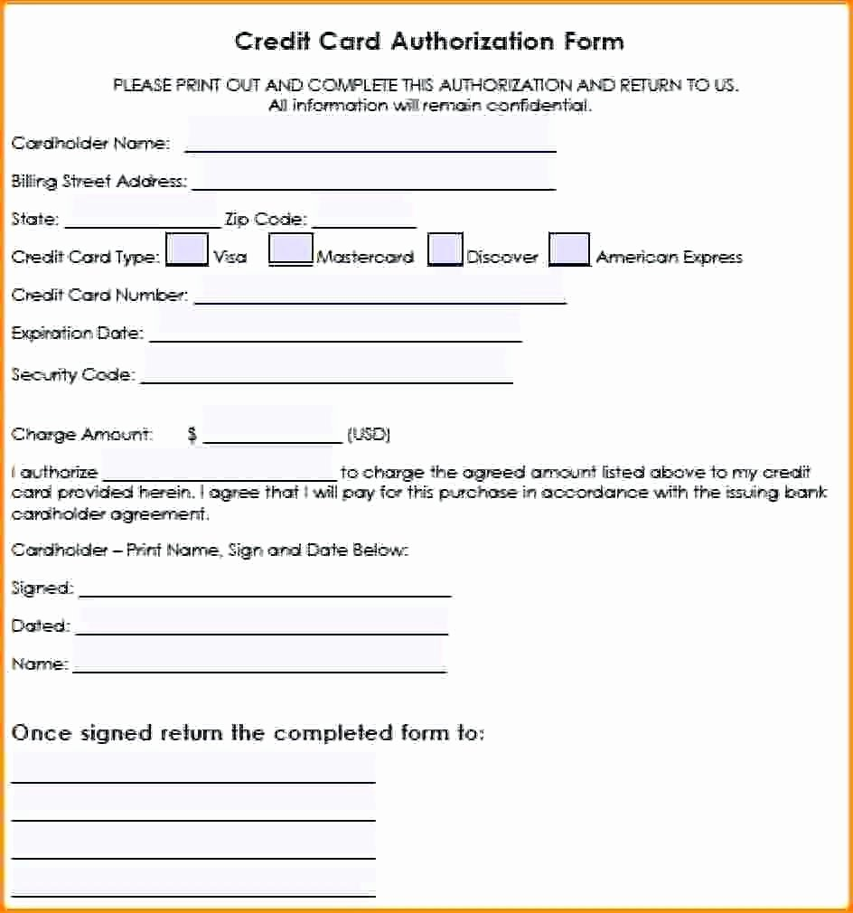 Credit Card Authorization Letter Template Elegant Template Credit Card Authorization Template Word