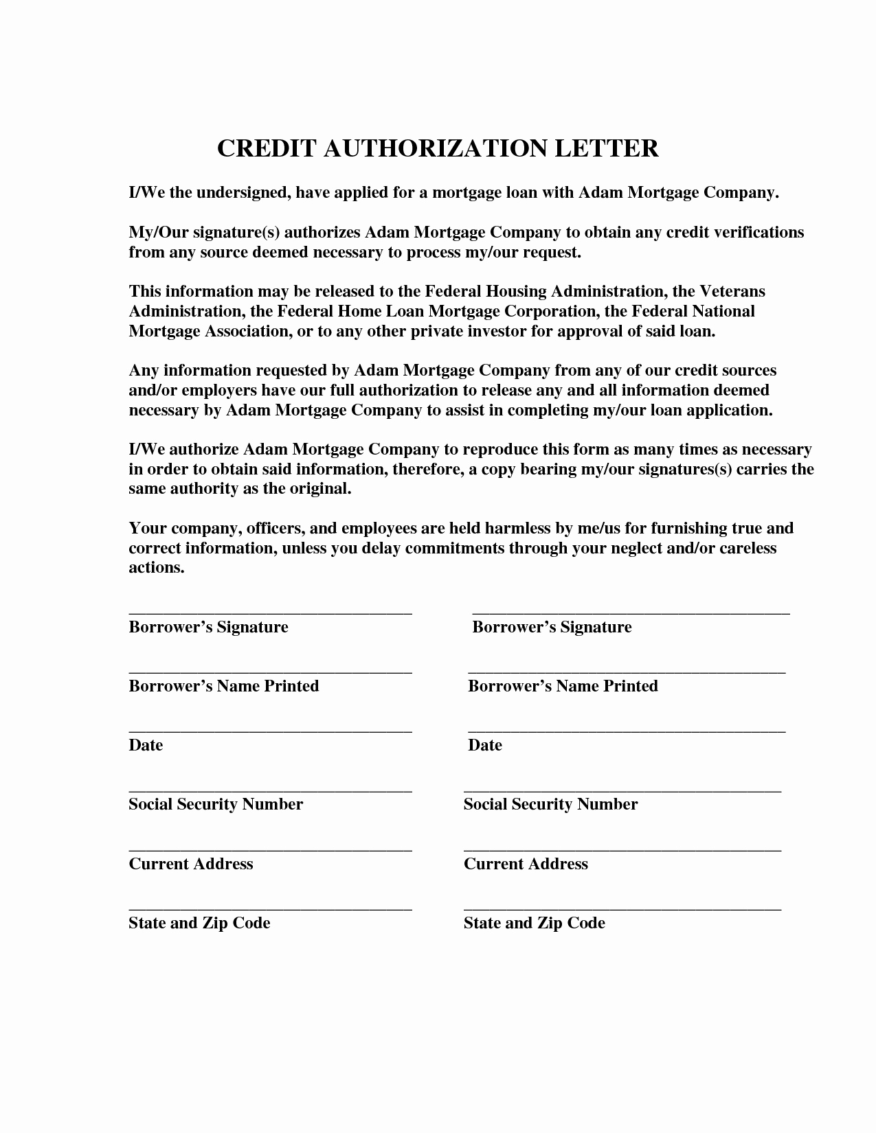 Credit Card Authorization Letter Template Luxury Credit Card Authorization Letter format Best Template