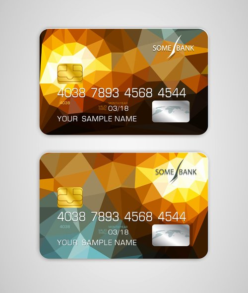 Credit Card Design Template Elegant Abstract Credit Cards Template Vector 08 Vector Abstract