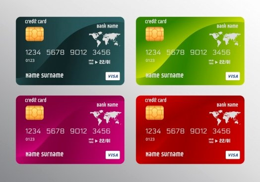 Credit Card Design Template Fresh Credit Card Template Coreldraw Free Vector