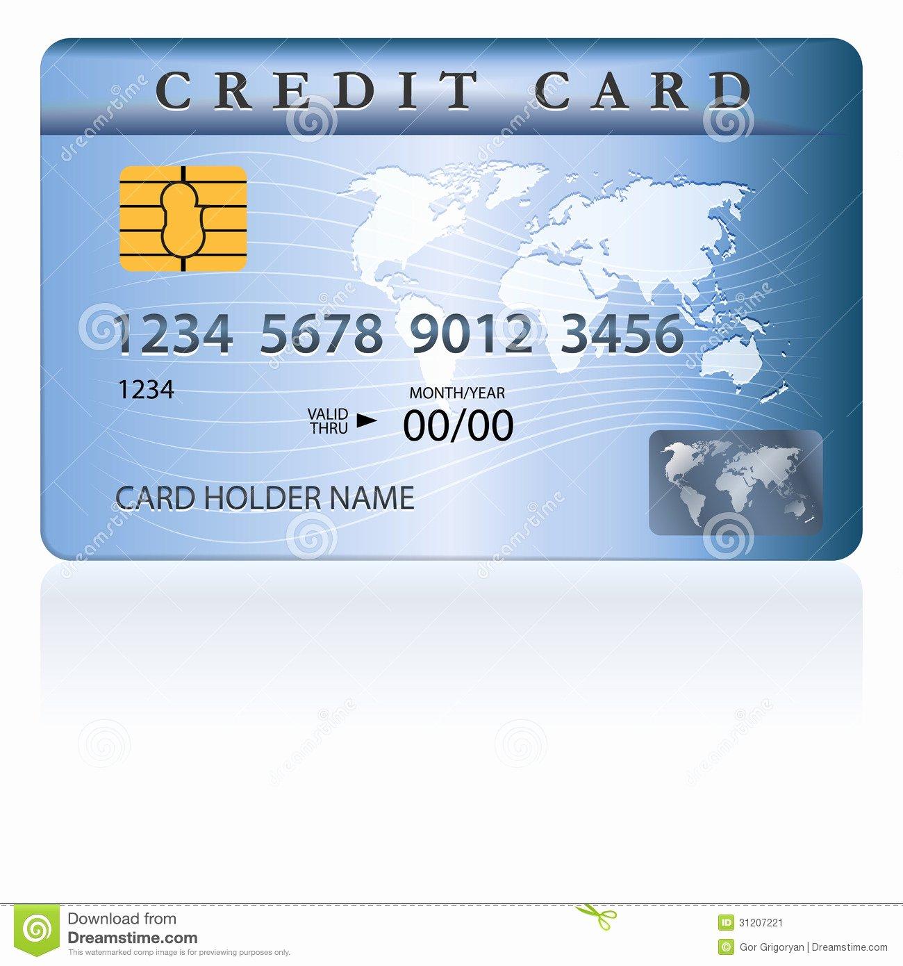 Credit Card Design Template Lovely Credit Debit Card Design Stock Vector Illustration Of