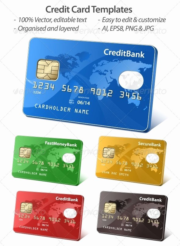 Credit Card Design Template Luxury 40 Realistic Credit Card Mockups Psd Vector