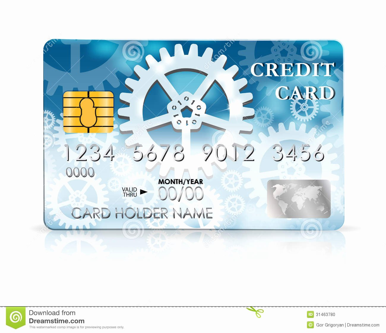 stock photo credit card design template vector illustration image